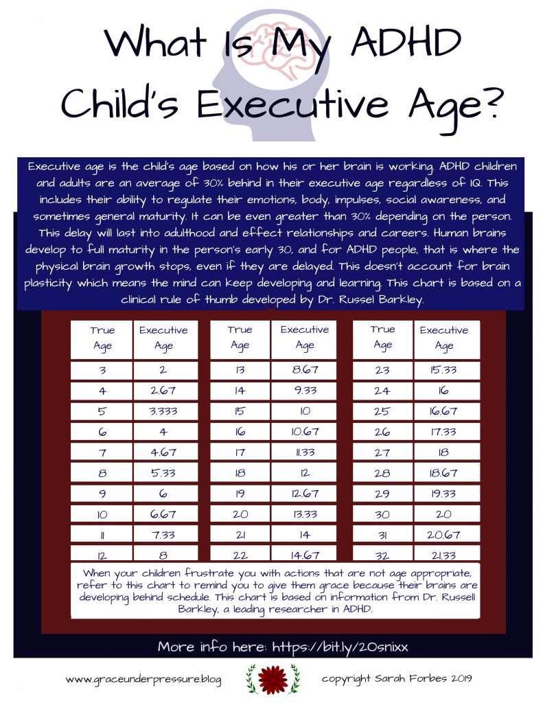 Adhd And Immaturity Parents Shouldnt >> What Is My Adhd Child S Executive Function Age Grace Under Pressure